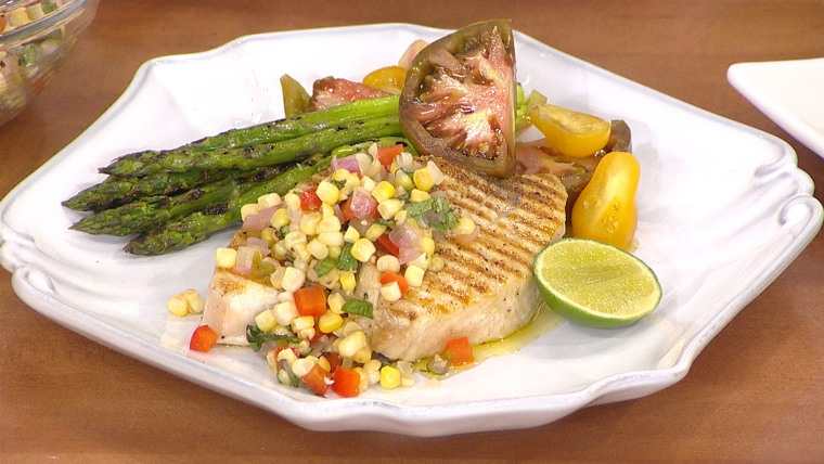 Celebrate Labor Day with grilled swordfish, corn relish