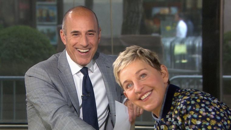 Ellen DeGeneres and Matt Lauer talk prank war, success