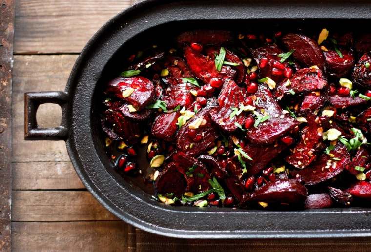 Moroccan Roasted Beets with Pomegranate Seeds