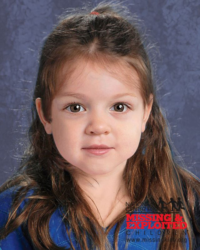 Image: A computer-generated composite image shows what the deceased toddler-age girl may have looked like in life