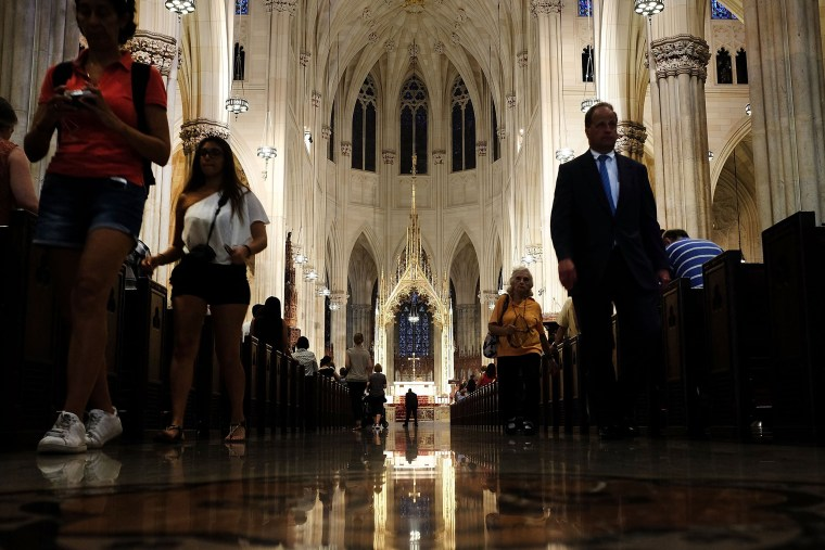 Image: New York's St. Patrick's Cathedral Prepares For Pope Francis's Visit