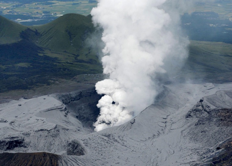 Image: Eruption of Mount Aso