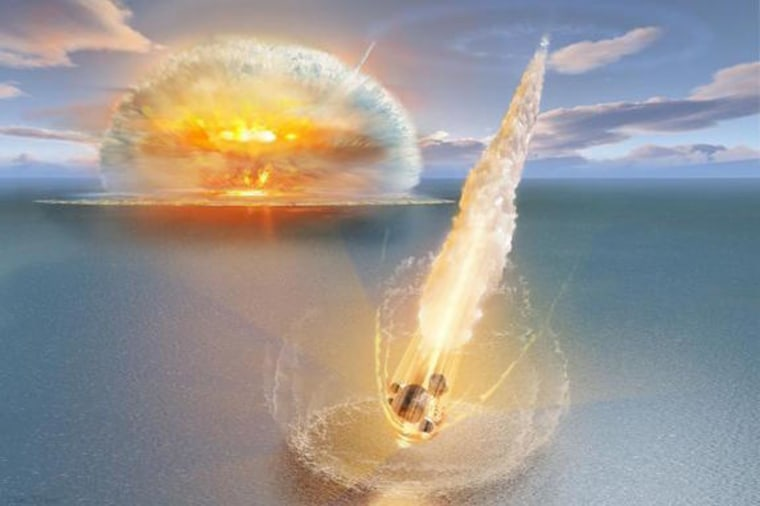 Image: Artist's depiction of dual meteor strike