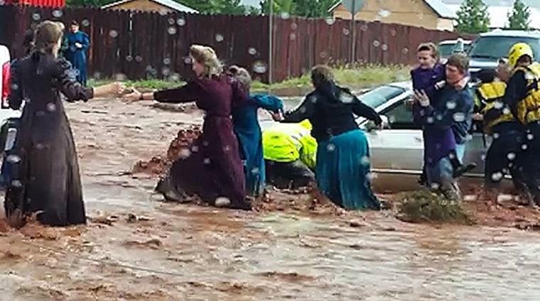 Image: Flash flood in Hildale, Utah