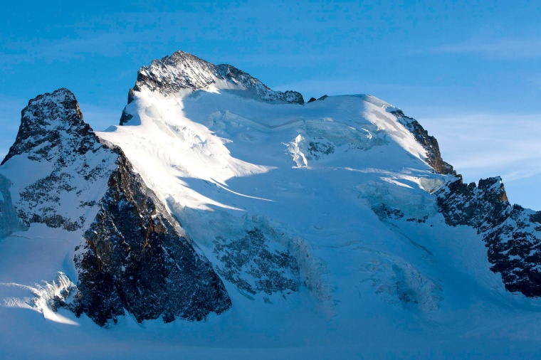 Image: The Dome and the Barre des Ecrins mountains in the French Alps, near Pelvoux. File photo.