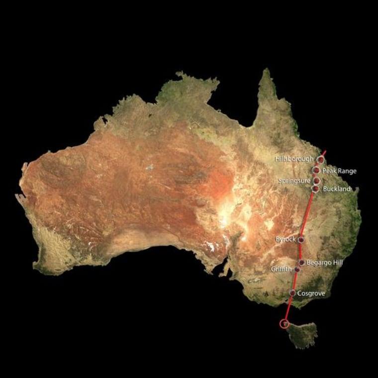 World's Longest Continental Volcano Chain Found in Australia