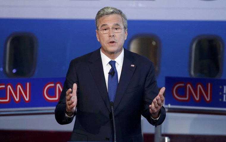 Image: Republican U.S. presidential candidate Bush speaks during the second official Republican presidential candidates debate of the 2016 U.S. presidential campaign at the Ronald Reagan Presidential Library in Simi Valley