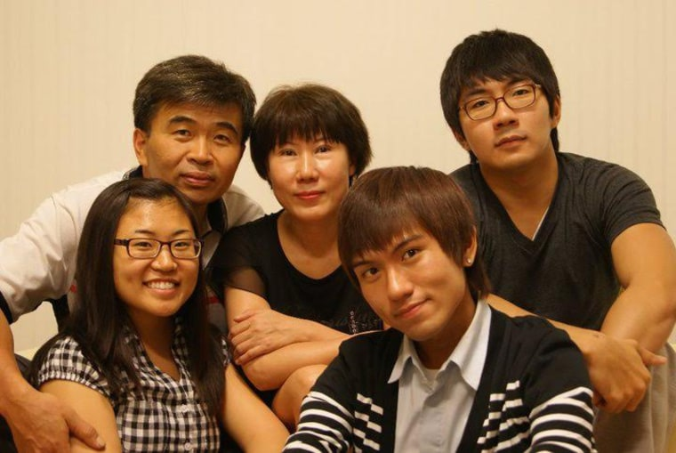 Whitney (left) with appa and omma and her two brothers during the first weekend of their birth family reunion October 2010 in Cheonan, S. Korea