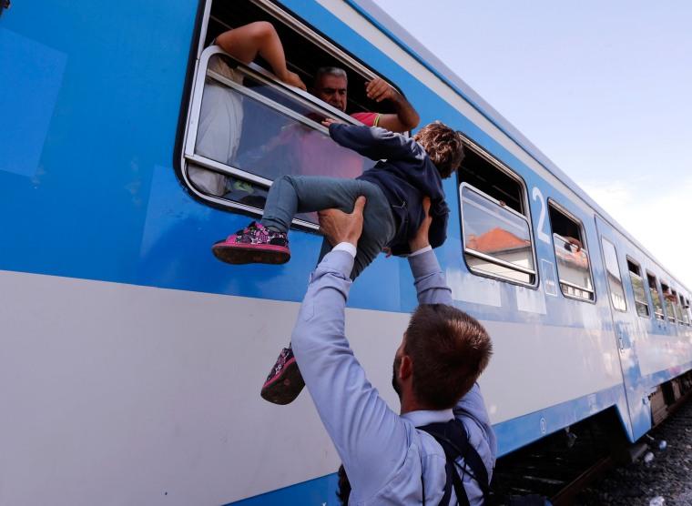 Image: Migrants in Croatia