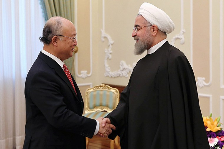 Image: International Atomic Energy Agency chief Yukiya Amano in Tehran