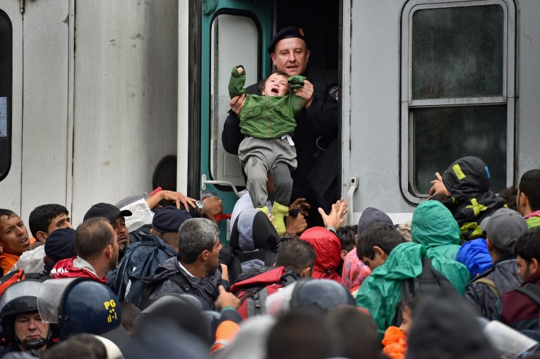 Image: *** BESTPIX *** Chaos Surrounds The Migrant Crisis As Croatia Struggles To Cope With The Numbers
