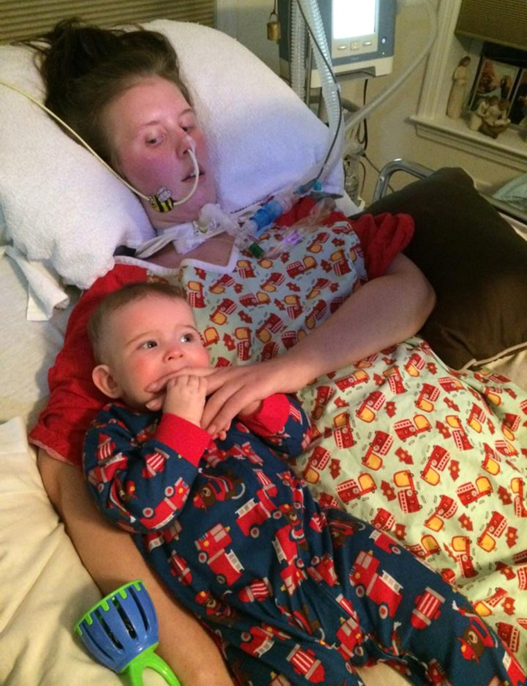 Mom with ALS, Amanda Bernier, was able to breastfeed her daughter