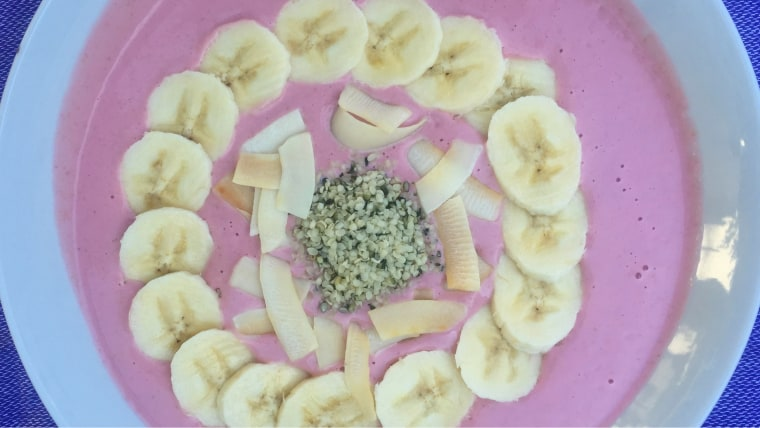 Berry Smoothie Bowl with Hemp Seeds and Banana