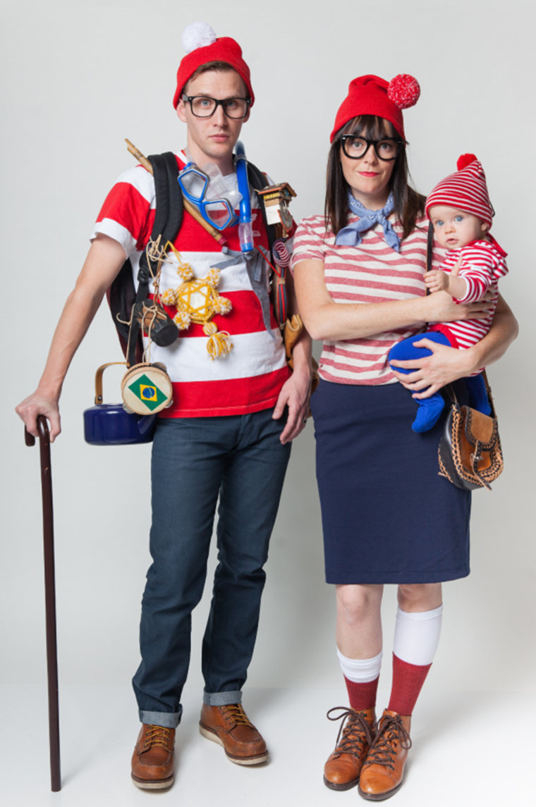 Team spirit 13 low cost funny diy halloween costumes for families halloween family costumes wheres waldo solutioingenieria Choice Image