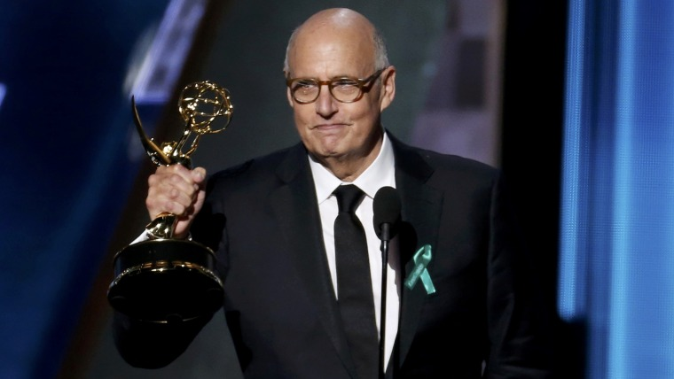 "Image: Jeffrey Tambor accepts the award for Outstanding Lead Actor In A Comedy Series for Amazon Studios' ""Transparent"" at the 67th Primetime Emmy Awards in Los Angeles"