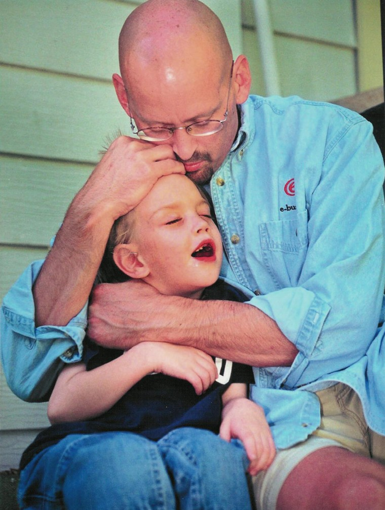 Patrick and Cal Sheridan of Boise, Idaho. Cal, now 20, has cerebral palsy because doctors failed to diagnose severe jaundice after he was born. Pat died at age 45 from a misdiagnosed tumor.