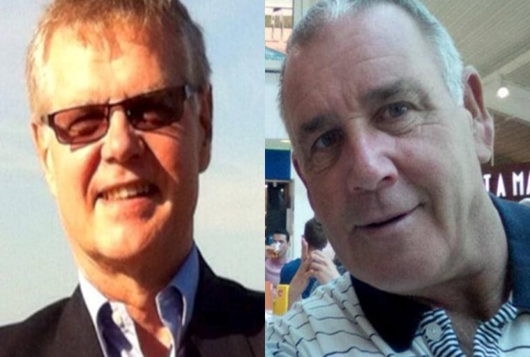 Image: (L) John Ridsdel and Robert Hall