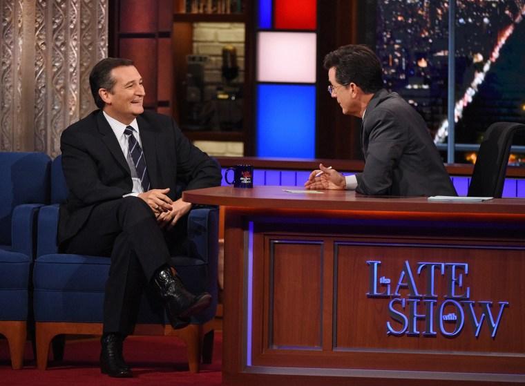 Image: Cruz on Colbert