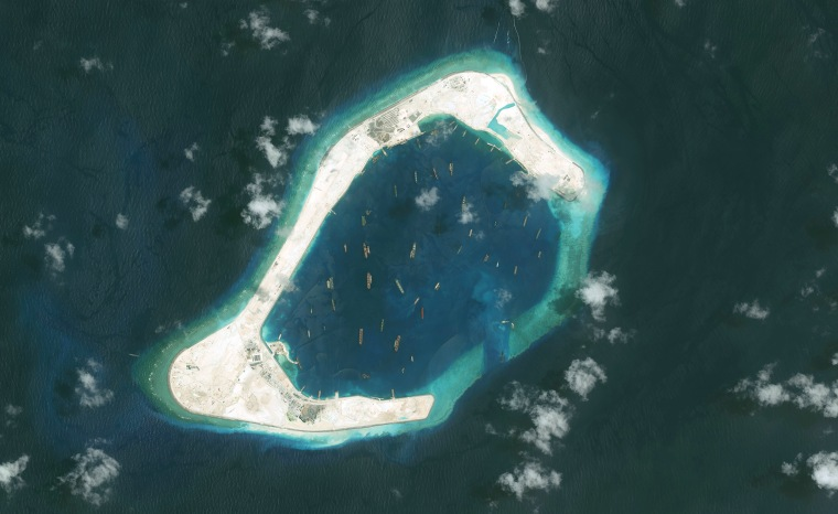 DigitalGlobe imagery of the Subi Reef in the South China Sea