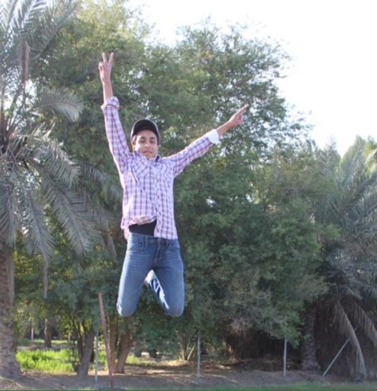 IMAGE: Al Mohammed al-Nimr jumping