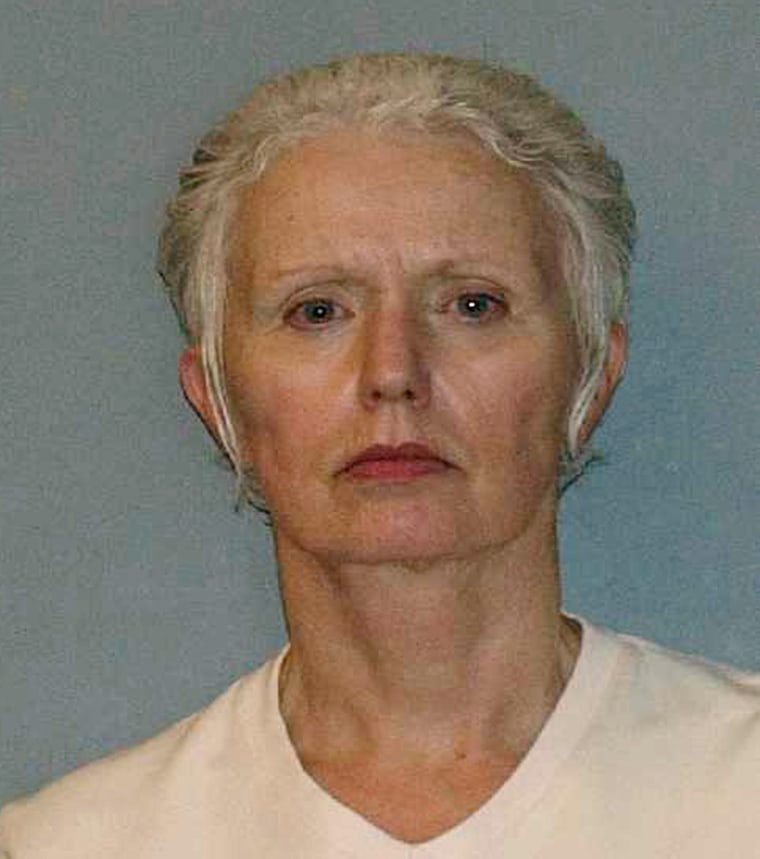 "Image: Booking mug handout of Catherine Greig, long time girlfriend of former mob boss and fugitive James ""Whitey"" Bulger"