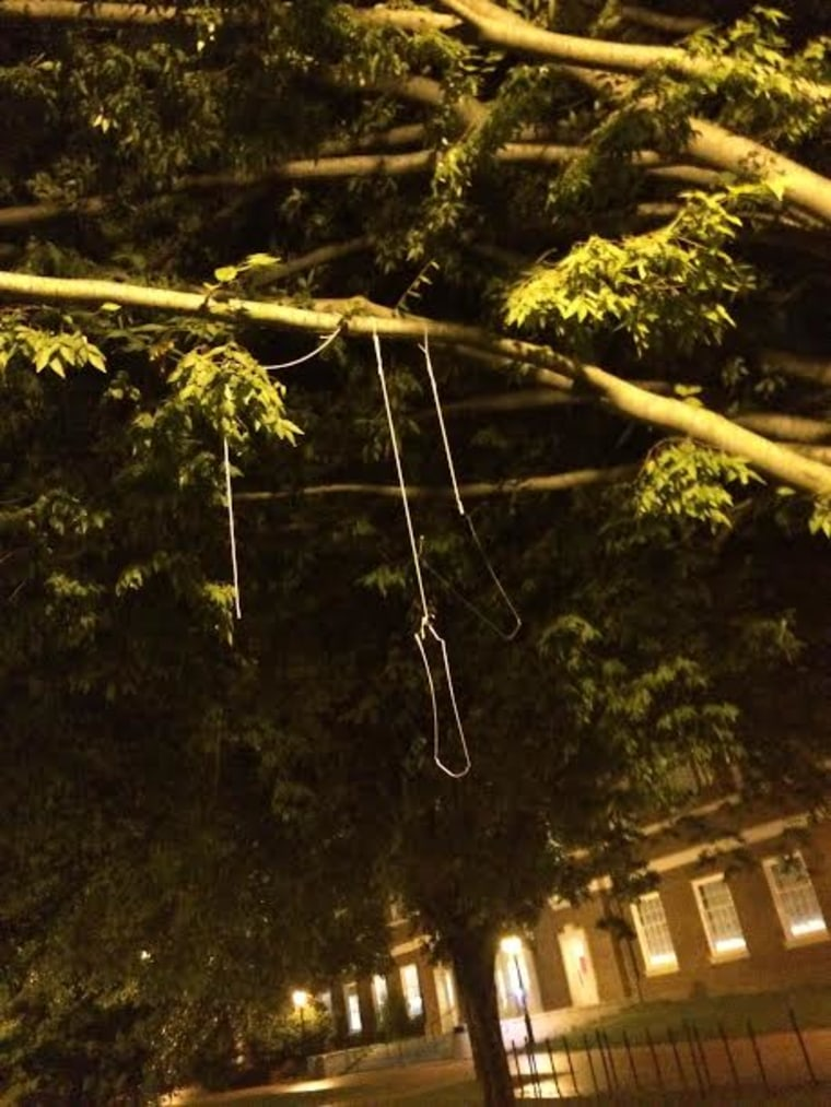 IMAGE: Nooses at University of Delaware