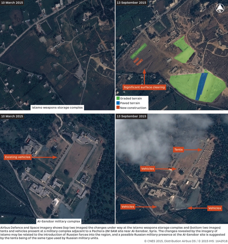 Image: IHS Jane's: Satellite Imagery Shows Russian Build-up in Syria