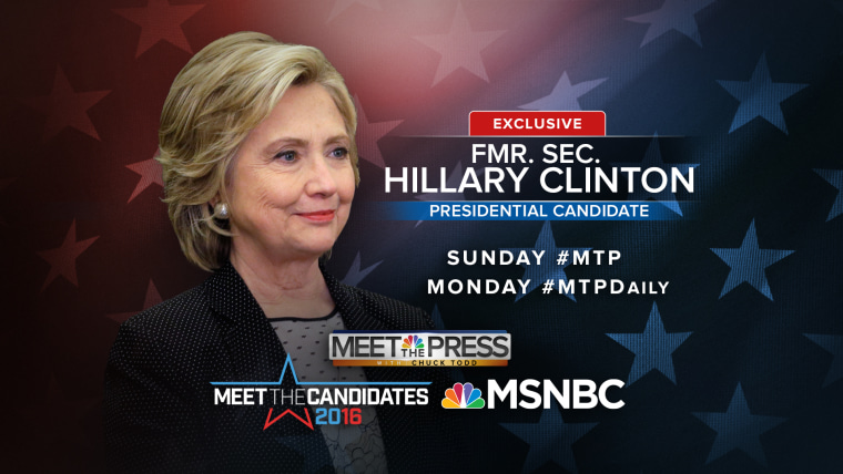 Hillary Clinton on Meet the Press and MSNBC Promo 092715