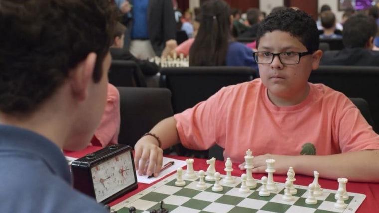 "Rico Rodriguez as an aspiring chess champ in the film ""Endgame."""