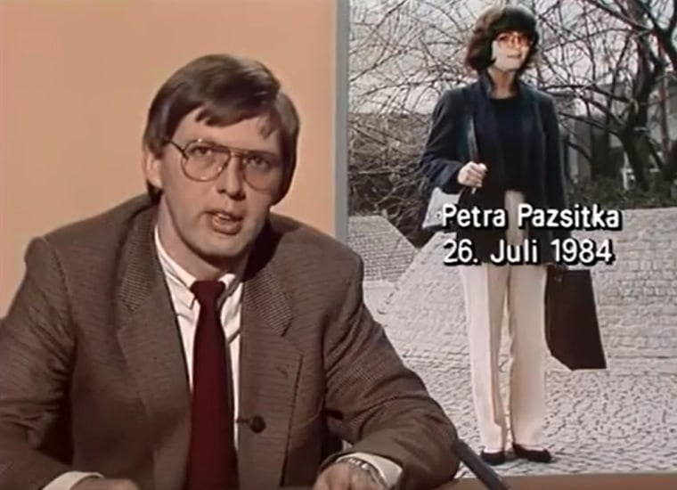 "German crime watch show ""Aktenzeichen XY,"" covered the the search for Petra Pazsitka in their broadcast of January 11, 1985."