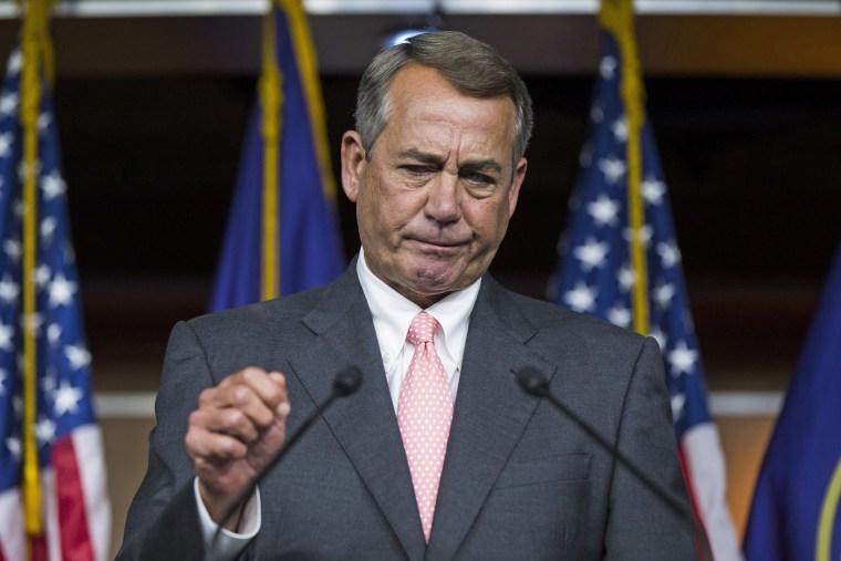 Image: Republican Speaker of the House John Boehner Announces He is Retiring