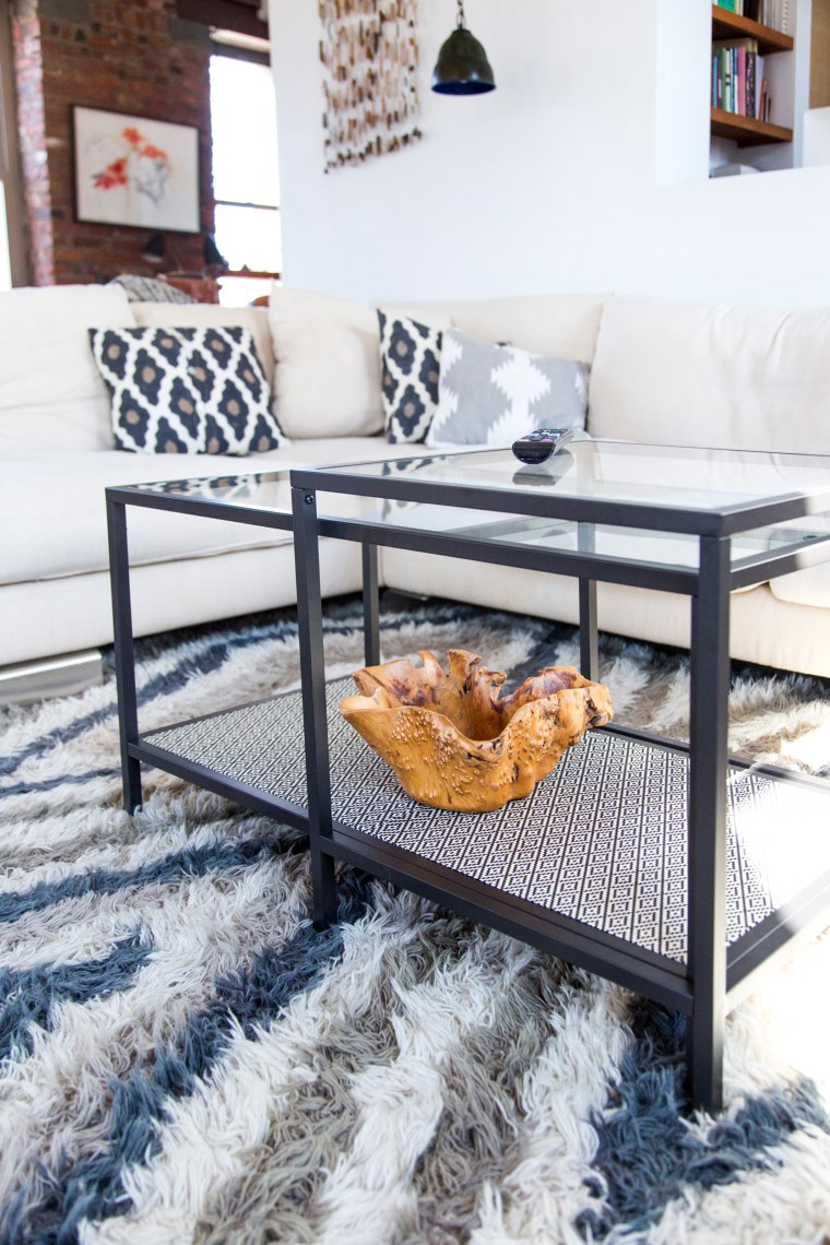 Ikea hack add style to your coffee table with this diy paper wrapped nesting tables ikea hacks for your home watchthetrailerfo
