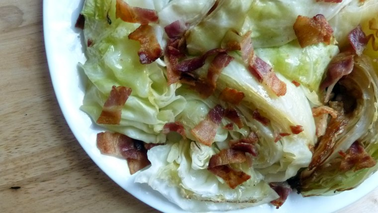 Bacon-Roasted Cabbage Wedges recipe