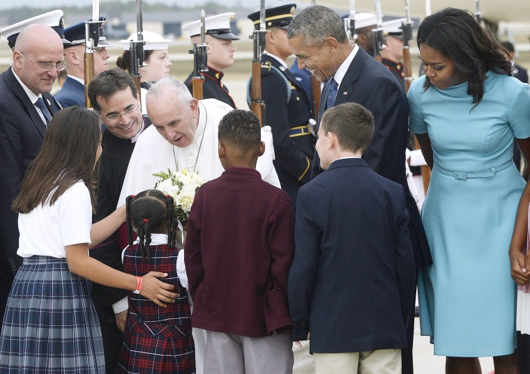 Image: Pope Francis Arrives From Cuba For Visit To D.C., New York, And Philadelphia
