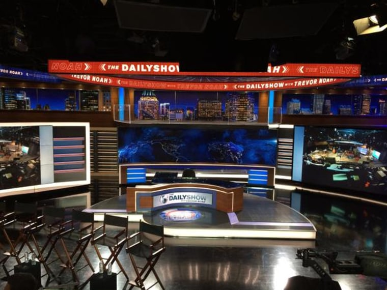 """The set of """"The Daily Show with Trevor Noah."""""""