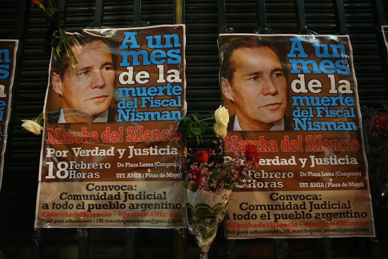 Silent Protest Held In Buenos Aires One Month After Mysterious Death Of Prosecutor
