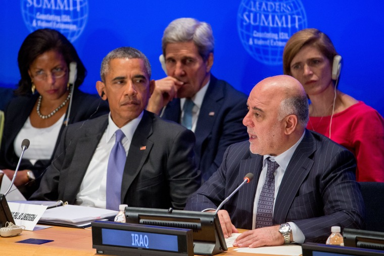 Image: Barack Obama, Haider al-Abadi, Susan Rice, John Kerry, Samantha Power