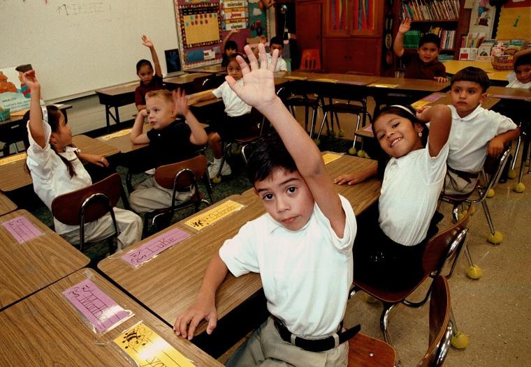 Image: Monolingual Hispanic Students Learn English