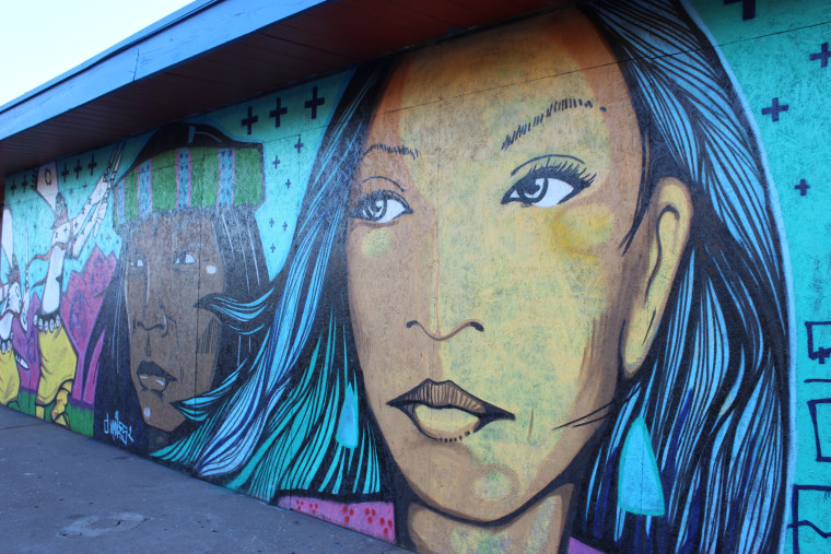 One of the murals that is part of the Calle 16 mural project in Phoenix, the brainchild of a local chef who wanted to contrast the negativity surrounding the implementation of Arizona's controversial SB1070 immigration law.