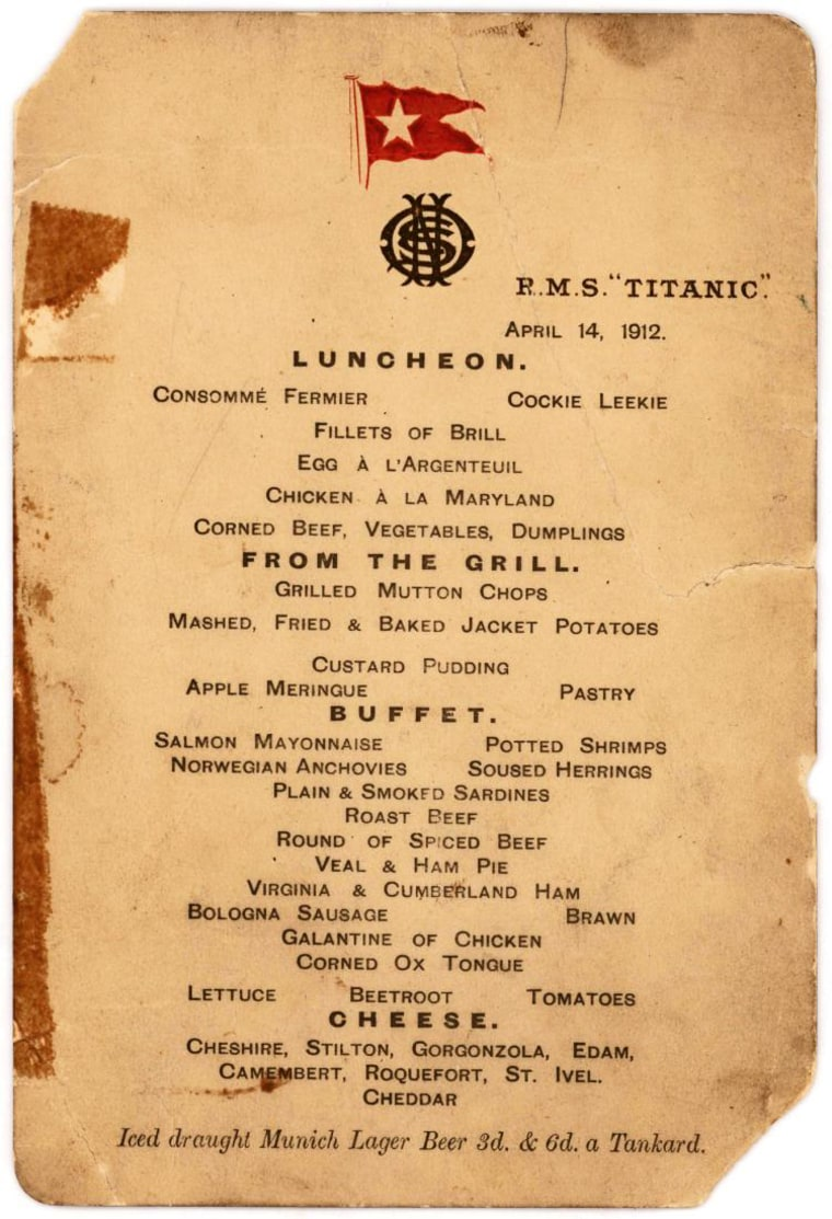 Image: Live Online Bidding on Titanic Artifacts from Survivors of Infamous Lifeboat No. 1