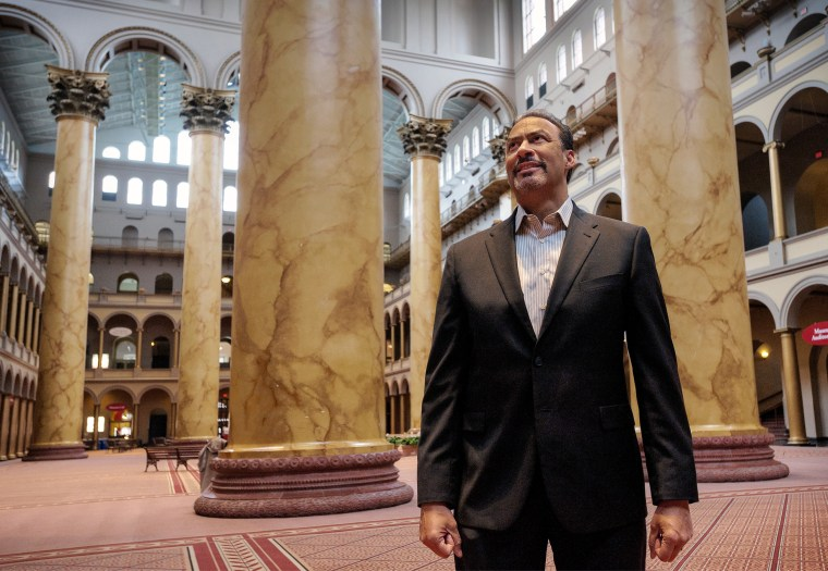 Architect Phil Freelon, co-designer of the new Smithonian National Museum of African American History and Culture, at the National Building museum in Washington, DC.