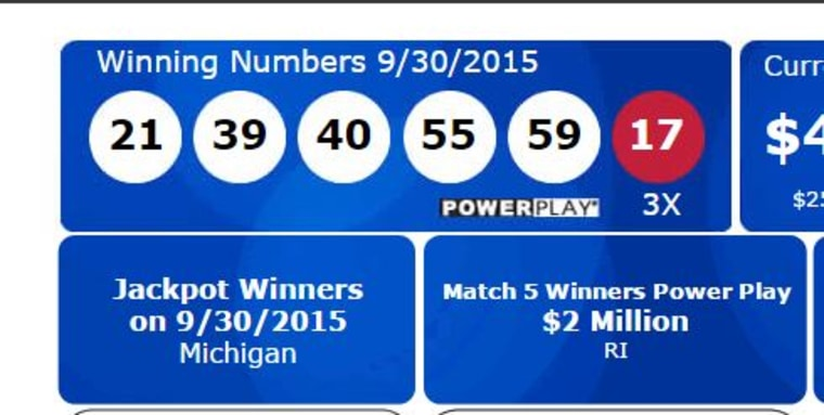Image: Powerball results