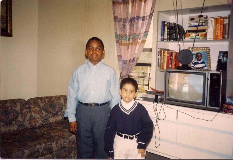 Dan-el Padilla Peralta and his younger brother Yando in Spanish Harlem in 1995.