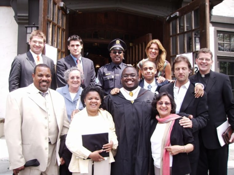 Dan-el Padilla Peralta with his family and friends during the Princeton University commencement in 2006.