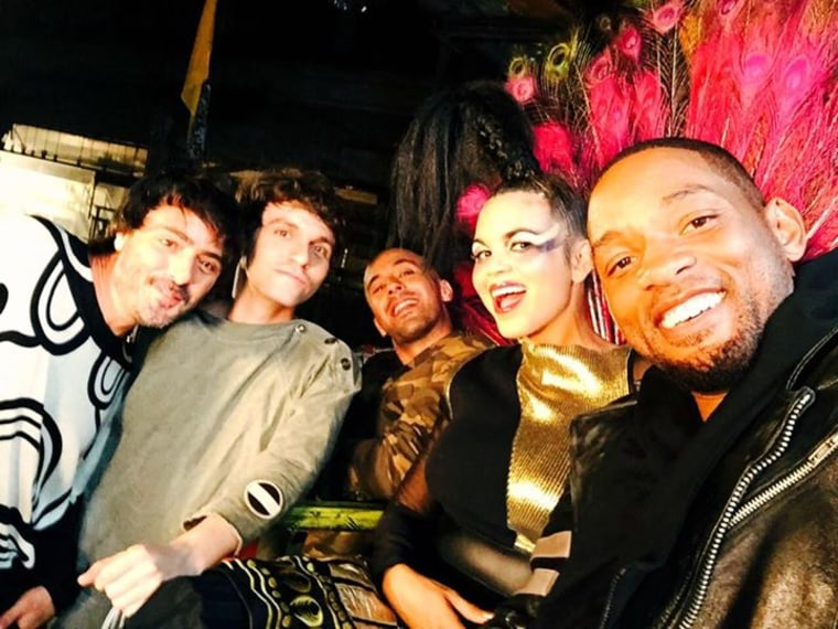 Will Smith with Colombia's Bomba Estereo posted on Facebook September 23 post.