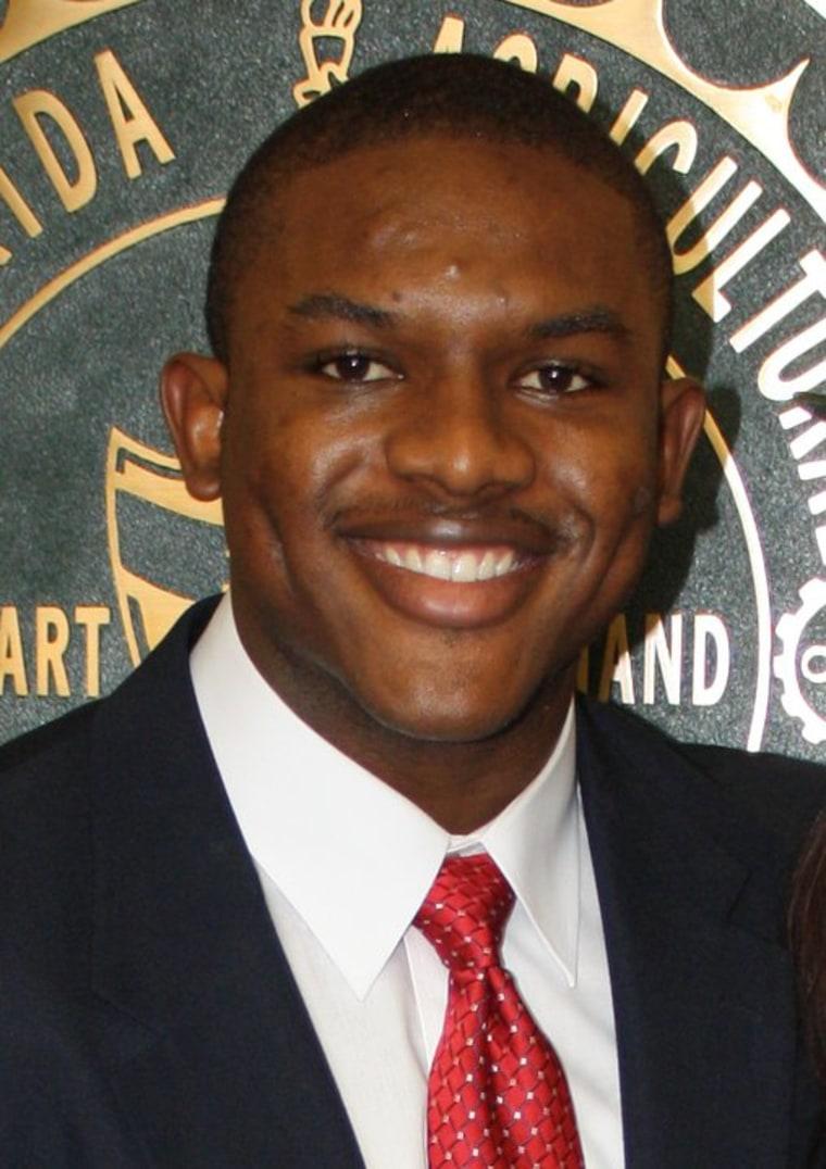 Michael J. Morton when he was the Student Body Senate President at Florida &M University.