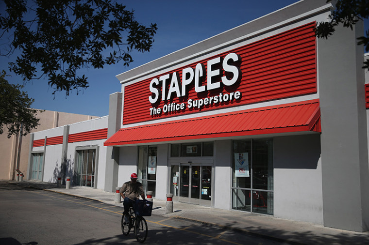 Staples store exterior