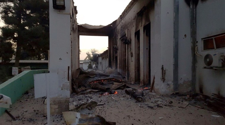 Image: Doctors Without Borders hospital in Kunduz, Afghanistan, after airstrike