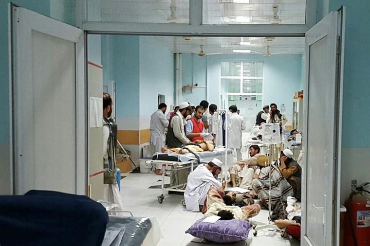 Image: TOPSHOTS-AFGHANISTAN-UNREST-MSF-KUNDUZ