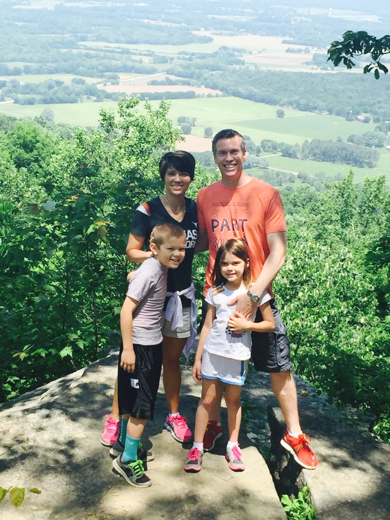 The family enjoys an outing in Monteagle, Tennessee.